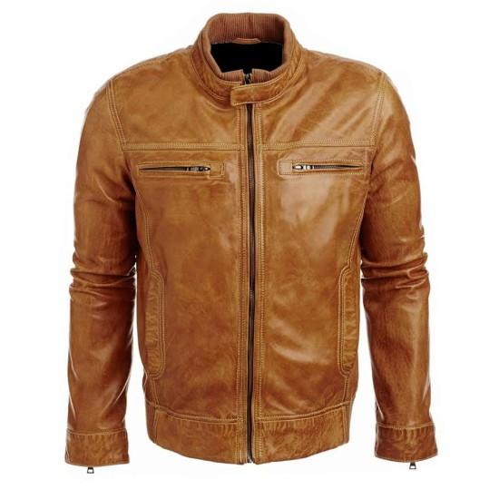 Arrow Tommy Merlyn Brown Leather Jacket