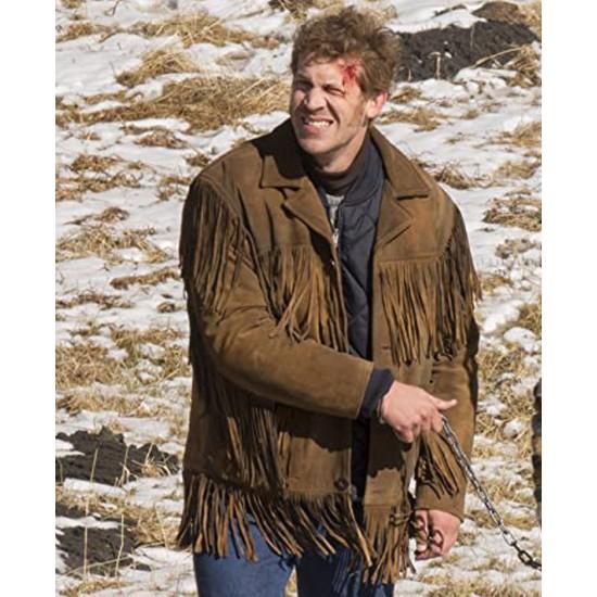 Fargo Russell Harvard Brown Fringe Jacket