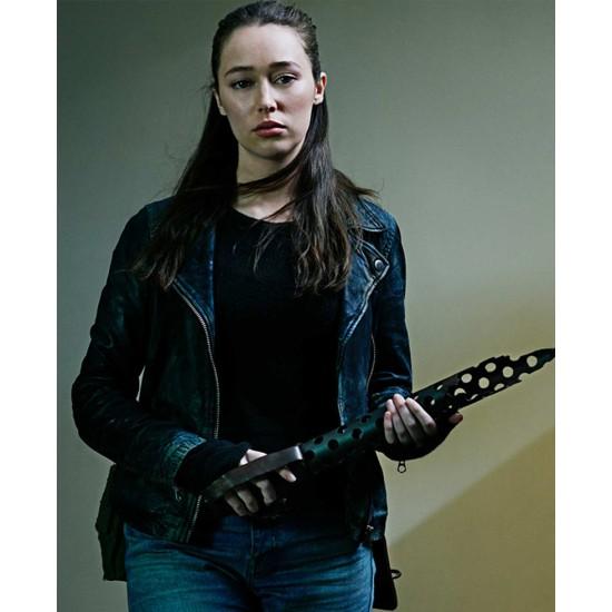 Alycia Debnam Carey Fear the Walking Dead Biker Leather Jacket