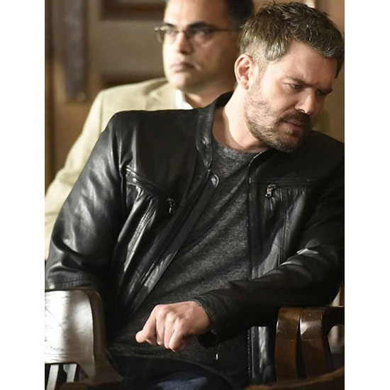 Charlie Weber How To Get Away with Murder Leather Jacket
