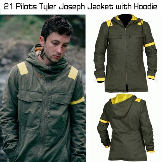 21 Pilots Tyler Joseph Jacket with Hoodie