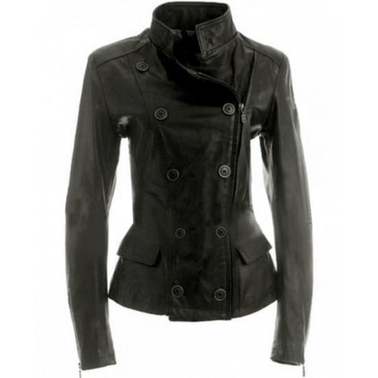 Twilight Saga Breaking Dawn Bella Swan Double Breasted Leather Jacket