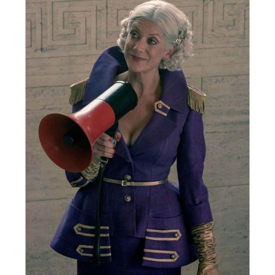 Kate Walsh The Umbrella Academy Purple Blazer