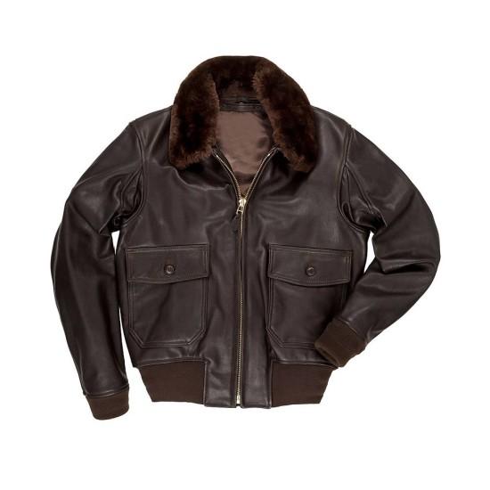 Trevor Donovan USS Christmas Bomber Leather Jacket