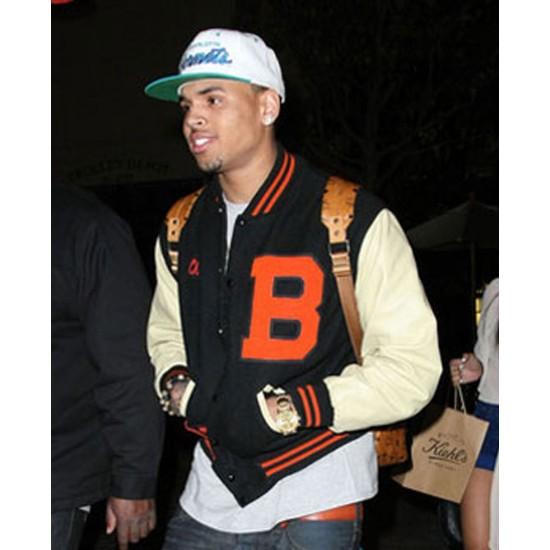 Chris Brown Letterman M Jacket