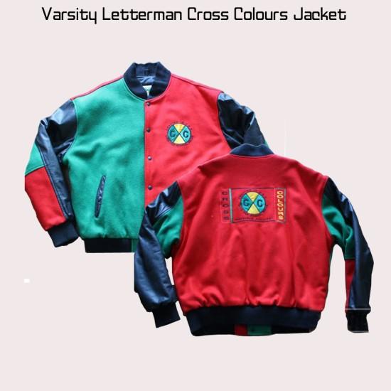 Cross Colours Letterman Jacket