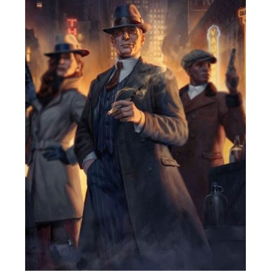 Al Capone Empire of Sin Double Breasted Coat