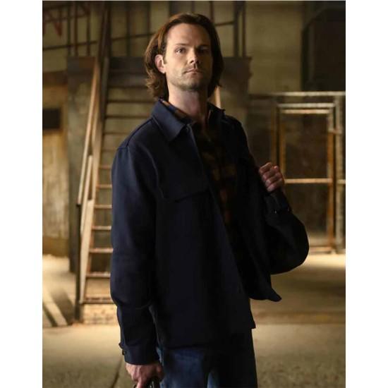 Jared Padalecki Walker Blue Cotton Jacket