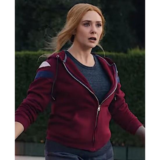 Elizabeth Olsen WandaVision Zip Up Hoodie