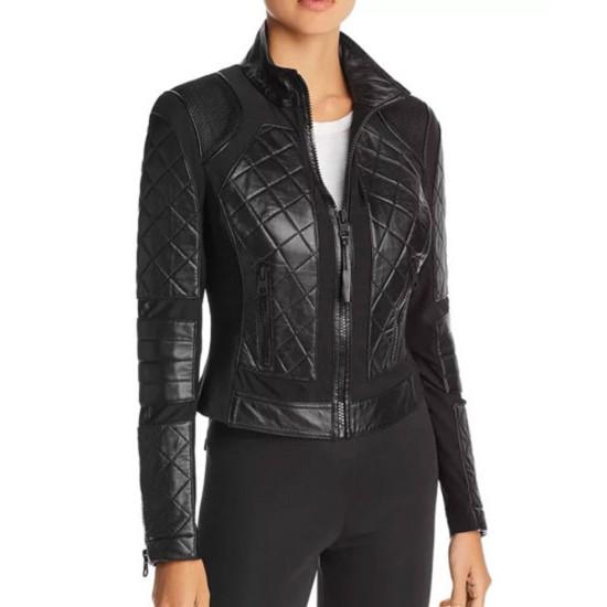 Westworld S03 Evan Rachel Wood Black Leather Jacket