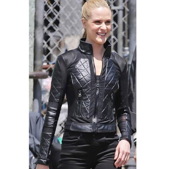 Westworld S03 Evan Rachel Wood Black Leather Jacket