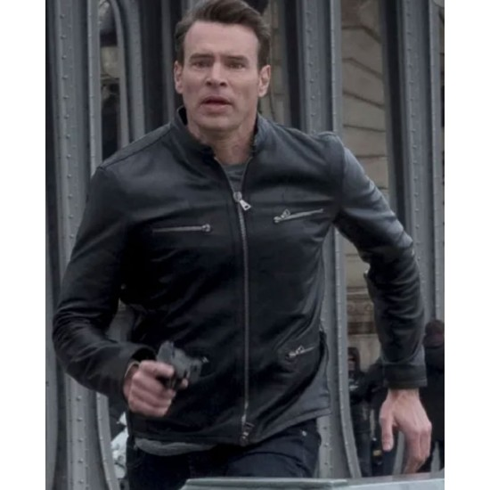 Whiskey Cavalier Scott Foley Black Leather Jacket