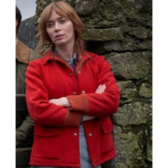 Emily Blunt Wild Mountain Thyme Red Jacket