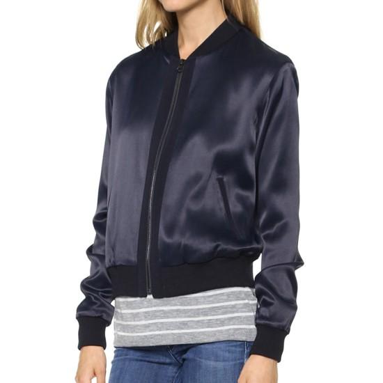 Arrow Willa Holland Blue Satin Jacket
