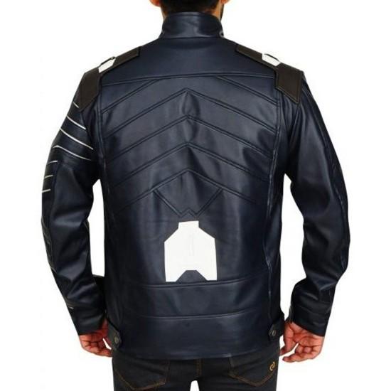 Avengers Infinity War Bucky Barnes Leather Jacket