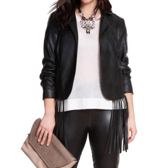 Women's Fresno Black Leather Blazer
