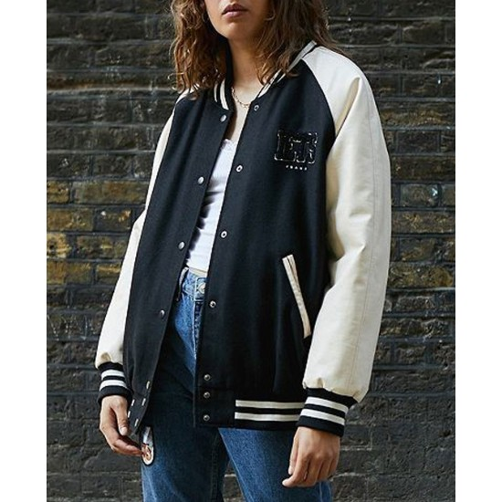 Women's Iets Frans Varsity Black and White Jacket
