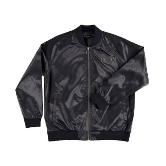 Women's OK Go Satin  Black Jacket