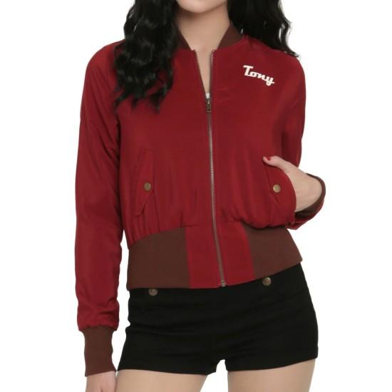Women's Stark Industries Bomber Satin Jacket