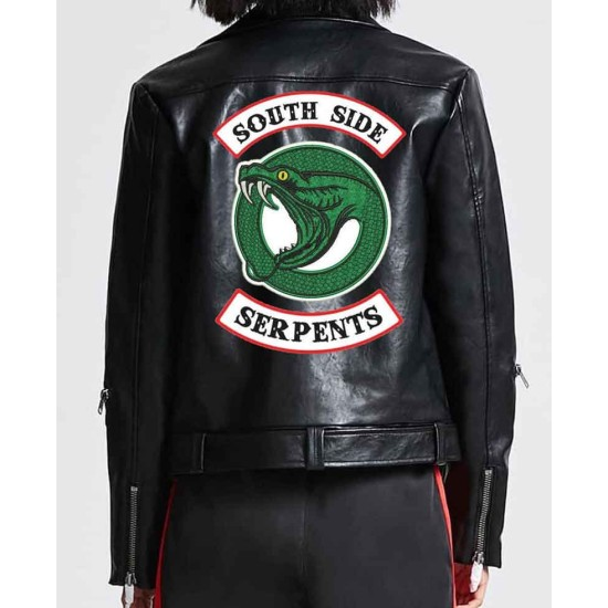 Women's Riverdale Southside Serpents Black Leather Jacket