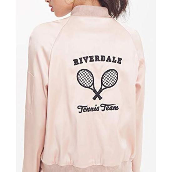 Women's Riverdale Tennis Team Pink Satin Jacket