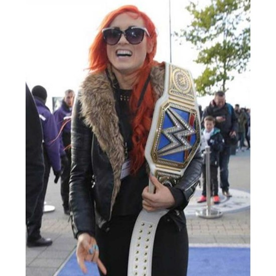 WWE Becky Lynch Shearling Leather Jacket