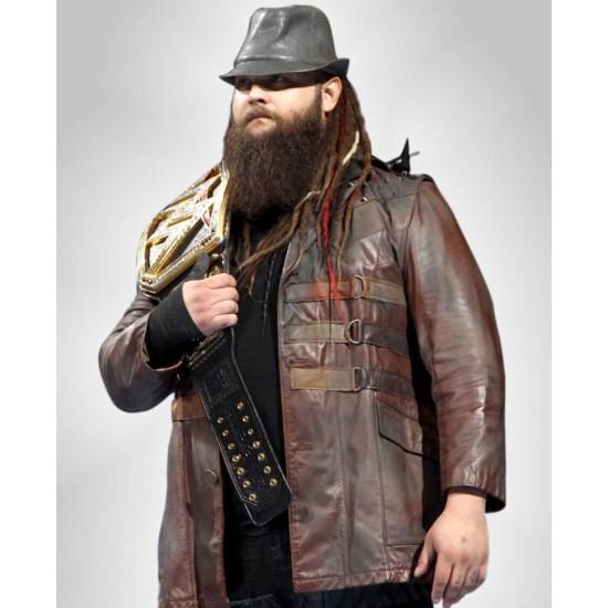 Bray Wyatt Brown Leather Jacket