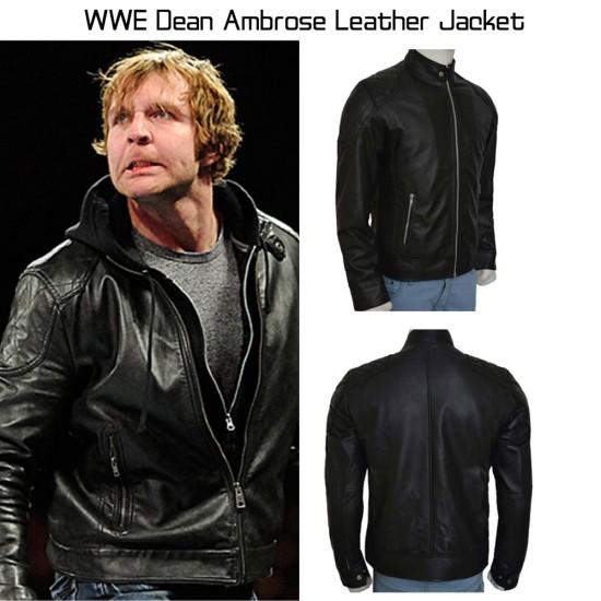 Dean Ambrose Black Leather Jacket