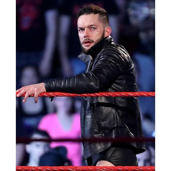 WWE WrestleMania 33 Finn Balor Leather Jacket
