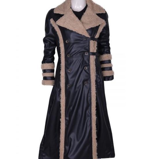 Asia Argento XXX Yelena Shearling Coat