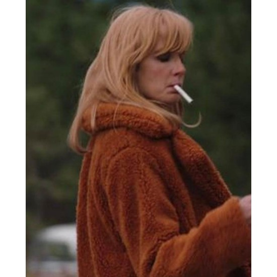 Kelly Reilly Yellowstone Season 02 Fur Jacket