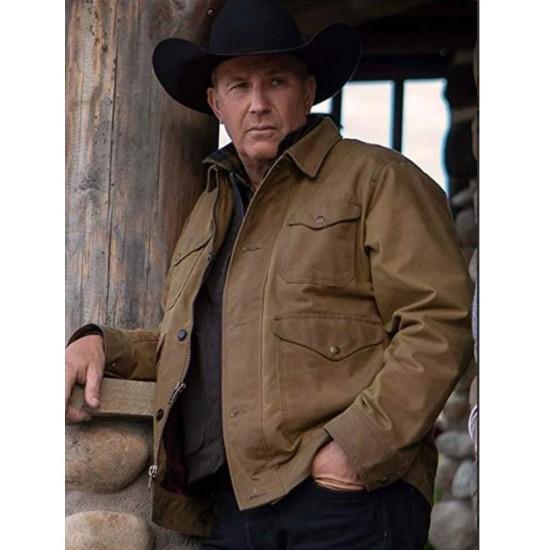 Yellowstone Season 2 Kevin Costner Brown Cotton Jacket