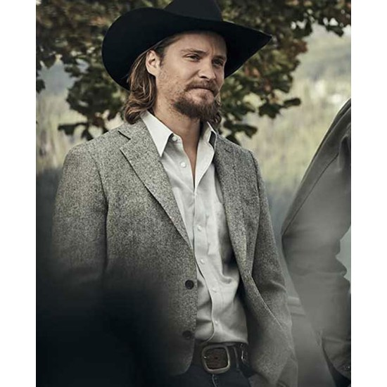 Luke Grimes Yellowstone Grey Blazer