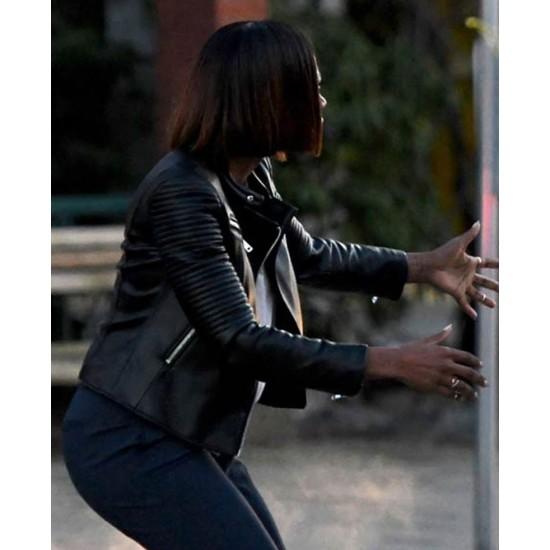 Yvonne Orji Spontaneous Leather Jacket