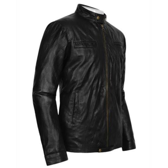 Zac Efron Wrinkled Washed 17 Again Leather Jacket