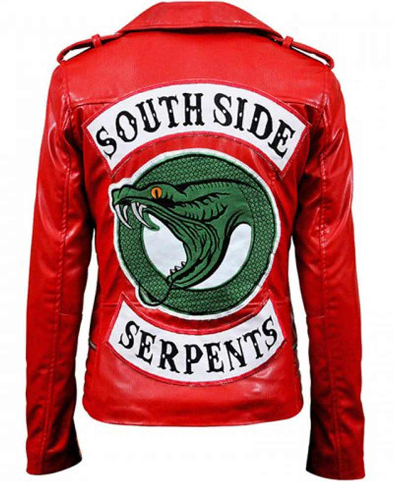 Madelaine Petsch Riverdale S02 Southside Serpents Red Jacket Films Jackets