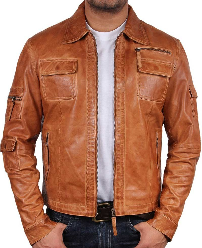 Women vintage brown leather jackets men for clearance for kids rosegal