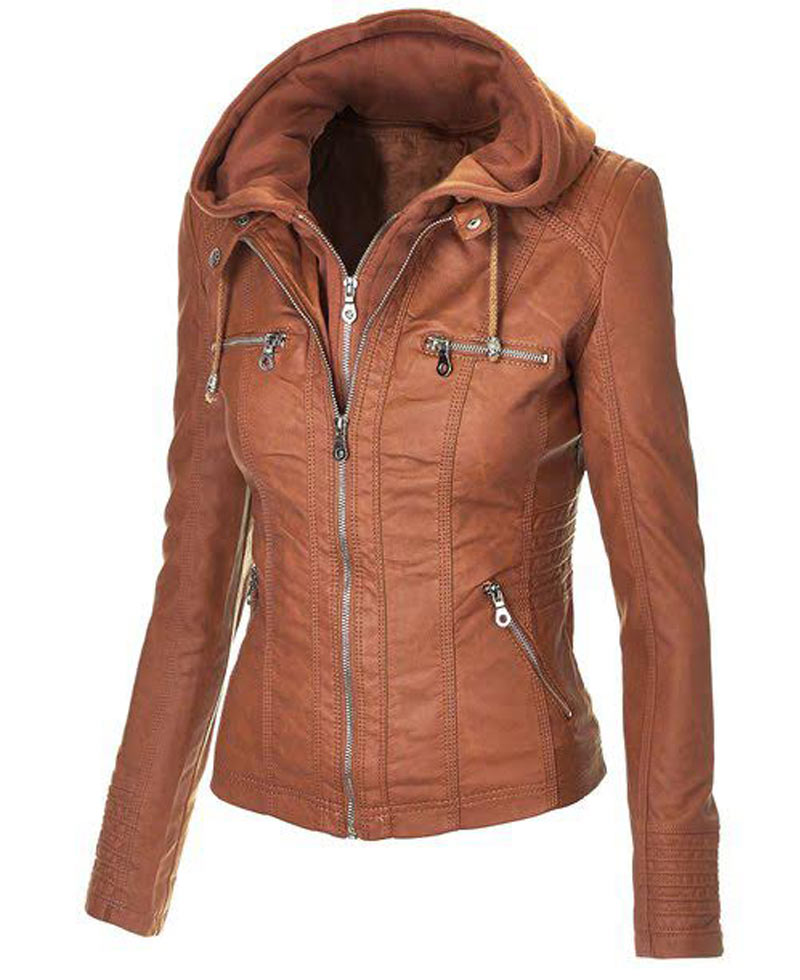 Faux Leather Jackets. Clothing. Women. Womens Coats & Jackets. Faux Leather Jackets. Showing 48 of results that match your query. Product - MBJ WJC Womens Faux Leather Jacket with Hoodie M BLACK. Product Image. Price $ 95 - $ Product Title. MBJ WJC Womens Faux Leather Jacket with Hoodie M BLACK.