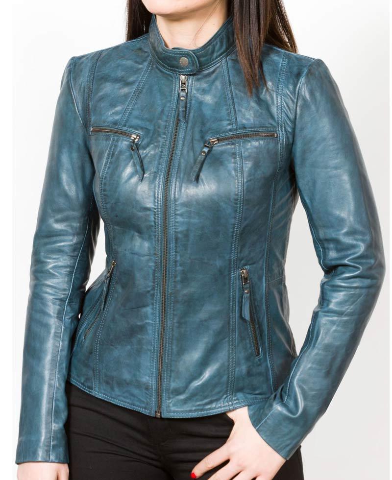 Womens leather biker jacket sale